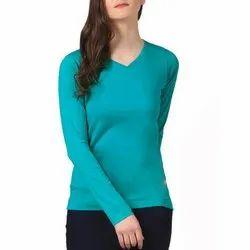 Punay Aqua Ladies Corporate T Shirt