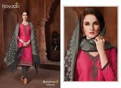 Nayaab Desire Red Suit With Banarasi Dupatta