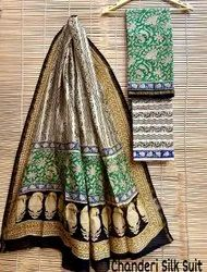 Chanderi Silk Suit