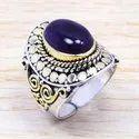 Smoky Quartz Gemstone 925 Sterling Silver And Brass Handmade Jewelry Finger Ring Sjwr-163