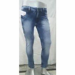 Casual Wear Ankle Fit Men Blue Denim Jeans, Size: 30 To 42