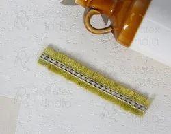 折射印度标准黄色经典花边,Kurti,尺寸:2.8厘米宽