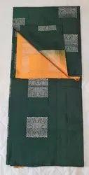 Elephant & Carrot Colors Silk Saree