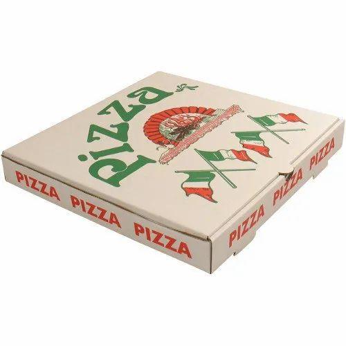 7 x 7 x 1.5 Inch Printed Paper Pizza Box
