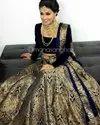Blue Banarasi Silk Lehenga Choli
