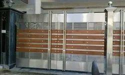 Stainless Steel SS Sliding Gate, For Commercial
