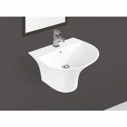 Ceramic White Wall Hung Wash Basin