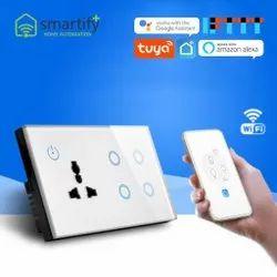SmartifyPlus 50hz 4 Gang Smart Wall Socket, 4M, 16A