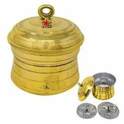 Nutristar Idli Cooker Aluminium Brass / Brass Idli Maker / Idli Maker With Khalai And 2 Plates.
