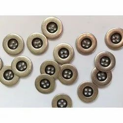 Alloy Garments Button, Packaging Type: Packet, Round