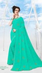 Fancy Designer Chiffon With Swarovski Work Saree
