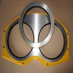 Tungsten Carbide Concrete Pump Spectacle Wear Plate Set, Scgwing Sp1400 And Putz 1407