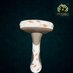 Oval Ceramic Pedestal Wash Basin