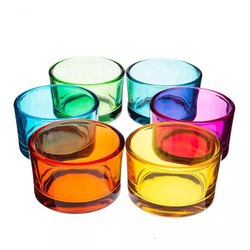 Glass Big Votive Colorful Candle Holders