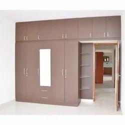 Brown Wooden Bedroom Wardrobe