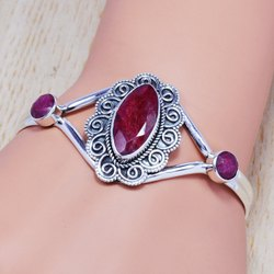 925 Sterling Silver Jewelry Ruby Designer Gemstone Ring Sjwb-93