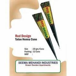 Red Mehandi Cone