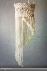 Off White Cotton Macrame Light Lamp, For Decoration