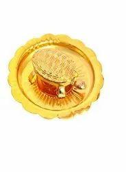 Designed Golden Kachhua Plates For Home Decoration Office Gift