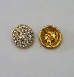 Metal Golden Laddu buttons, For Kurtis Suits Lengh, Size/Dimension: 28L