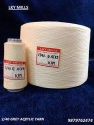 2/40 Acrylic 100% Grey Yarn 40/2 - Brand : LKY Mills
