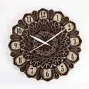Jdc006 Multilayer Wood Finish Decorative Wall Art Clock, Size: 12x12 Inch