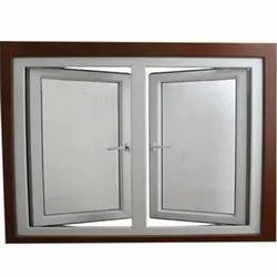 White (Frame) UPVC Glass Casement Window, Glass Thickness: 6mm