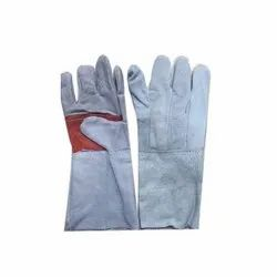 Leather Hand Gloves, For Machine Operation, Size: Free Size