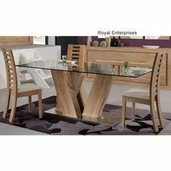 Royal Enterprises 53 Modern Glass Dining Table Set