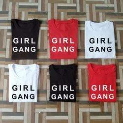 TRENDYWAY IN Half Sleeve Girl Gang T-shirt, 180