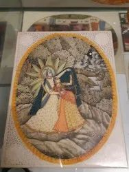 Ancient Art Handmade Decorative Paintings, Size: 6x9 Inch