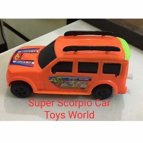 Red Super Scorpio Plastic Toy Car, For School/Play School