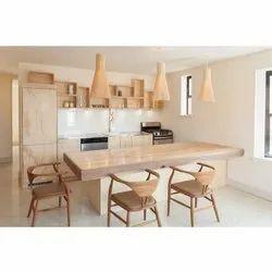 Wooden Modular Dinning Room Interior Designing