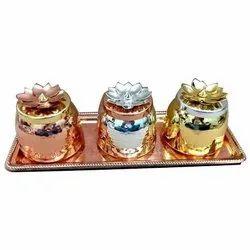 Round Dry Fruit Metal Jar