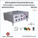 ECG Amplifier 3 Lead Trainer With Heart Rate Indicator LCD/LED