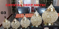 Decorative Matki Crystal Diya for Corporate Gift