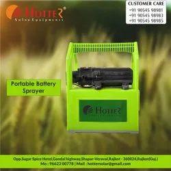 Hotter portable battery sprayer
