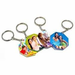 Octagon Shape Sublimation Keychain