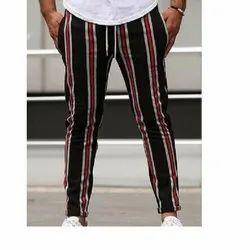 Striped Men Cotton Casual Trouser