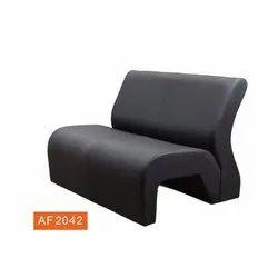 Black 1.5 Feet Designer Leather Office Sofa, Seating Capacity: 2 Seater
