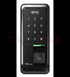 EPIC Main Door Pop Scan m / Fingerprint / Password / Guest Password, Black