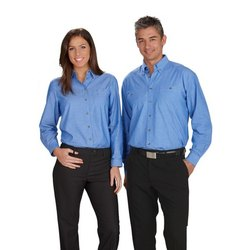 Cotton Blue & Black Corporate Uniform, Size: S-XXL