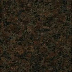 Block Stained Coffee Brown Granite Slab, Thickness: 15 mm