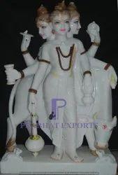 Makrana White Marble Dattatreya Murti