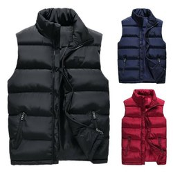 Men's Sleeveless Puffer Jacket.