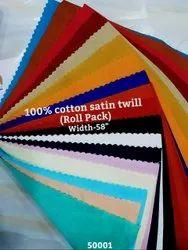 Satin twill shirting fabric
