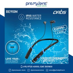 Be910m Sports Bluetooth Wireless Earphone With Stereo Sound & Hands Free Mic.