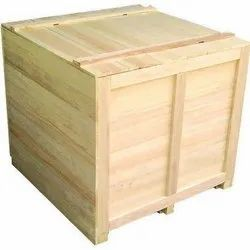 Fumigation Process Brown Wooden Box, For Packaging, Size: 220 x 110 x 150