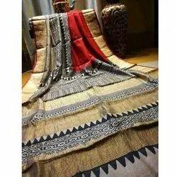 6.5 m Festive Wear Ladies Handloom Silk Saree, With Blouse Piece