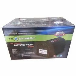 Pro Energy Black VI-009 Power Sub Woofer, For Car, 1200 W Max